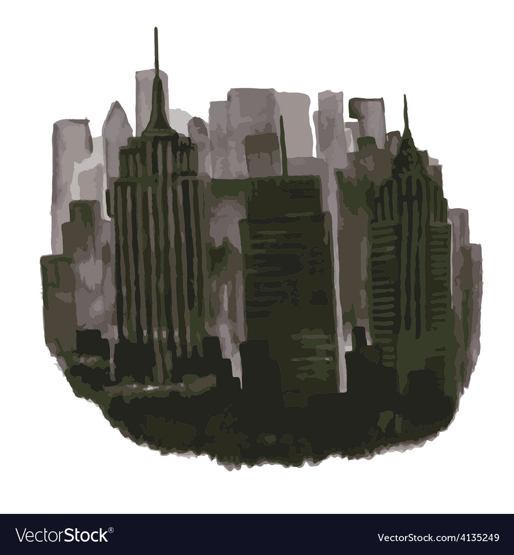 Stylized skyscrapers metropolis vector | Price: 1 Credit (USD $1)