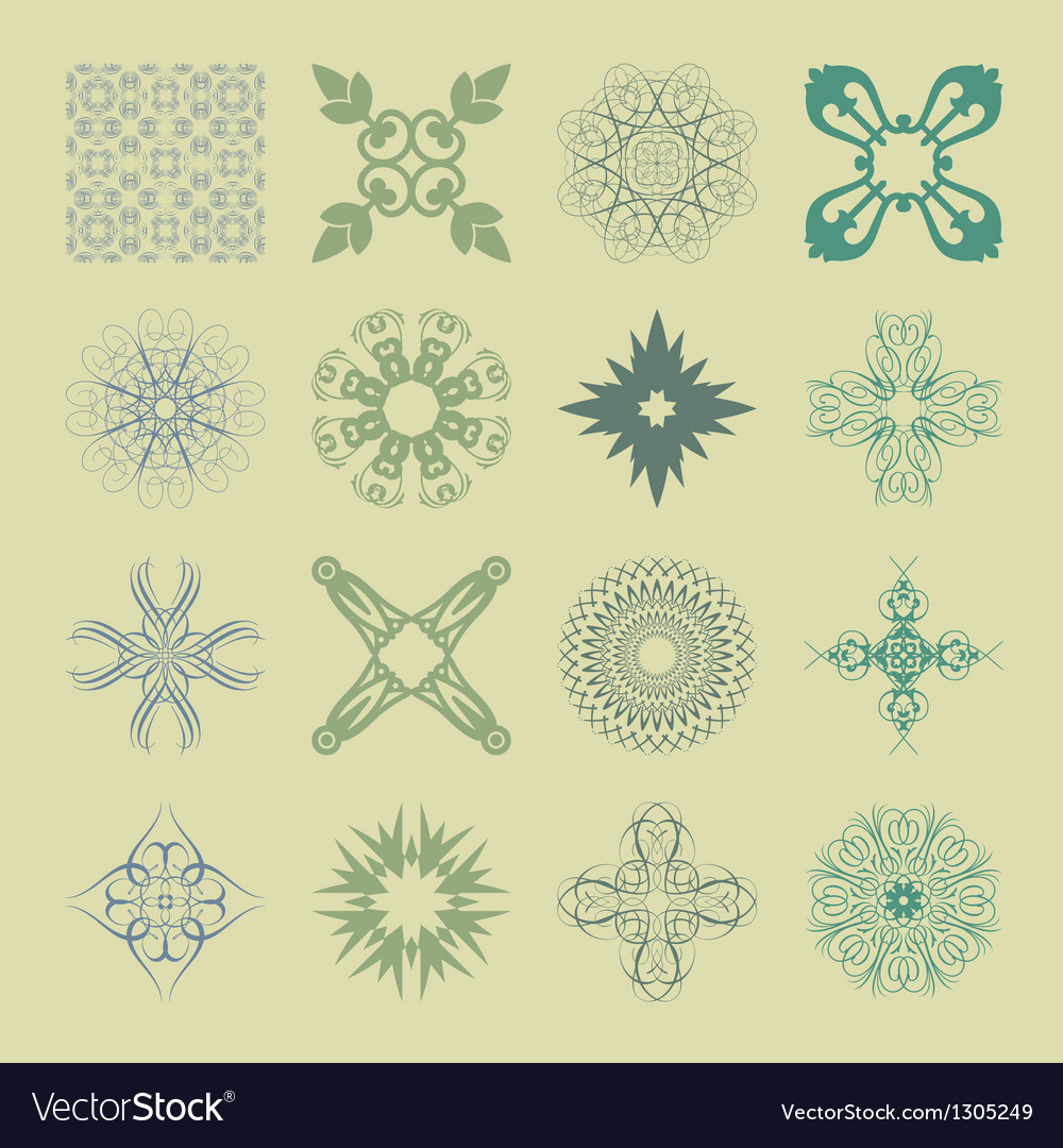 Various styles of soft symbol sets original vector | Price: 1 Credit (USD $1)