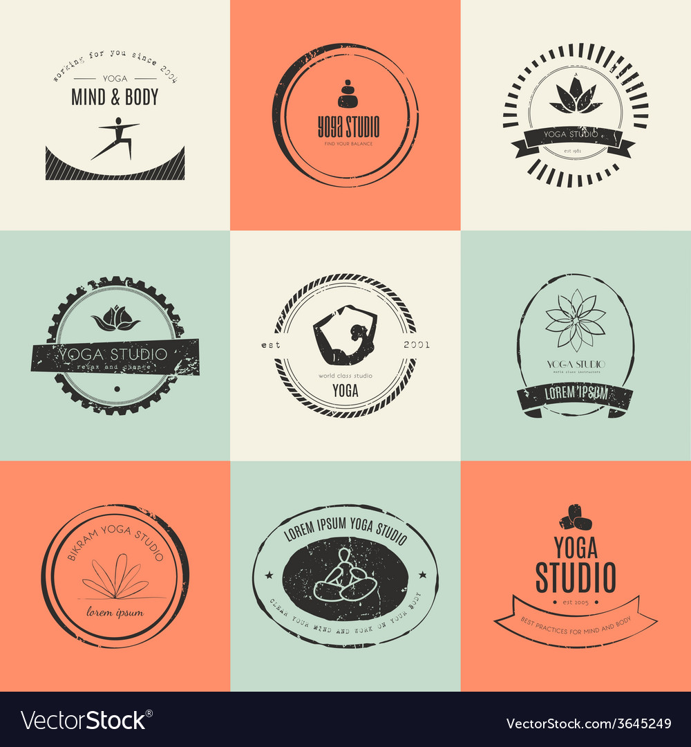 Yoga logotypes collection vector | Price: 1 Credit (USD $1)