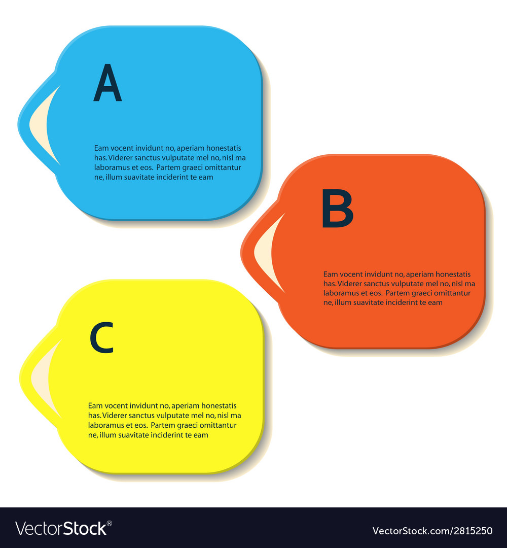 Abstract color shapes for your infographics vector | Price: 1 Credit (USD $1)