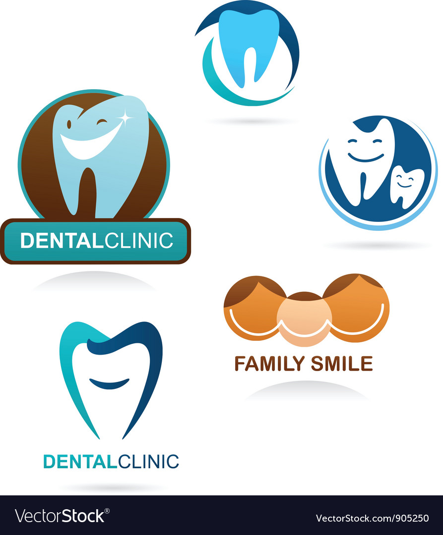 Collection of dental clinic icons vector | Price: 1 Credit (USD $1)