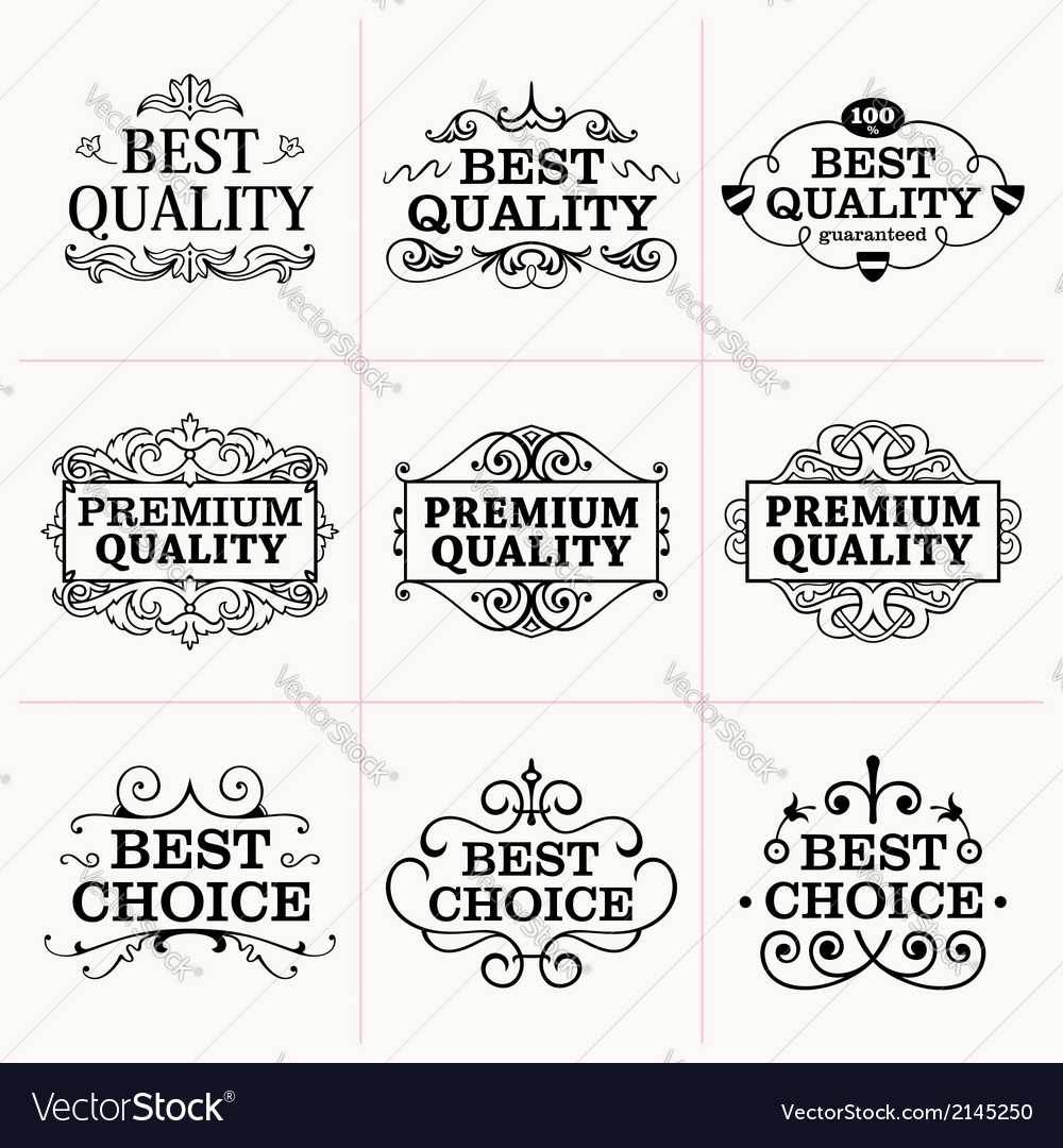 Collection of frames and design elements vector | Price: 1 Credit (USD $1)