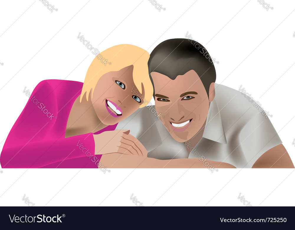 Couple family man and woman vector | Price: 1 Credit (USD $1)