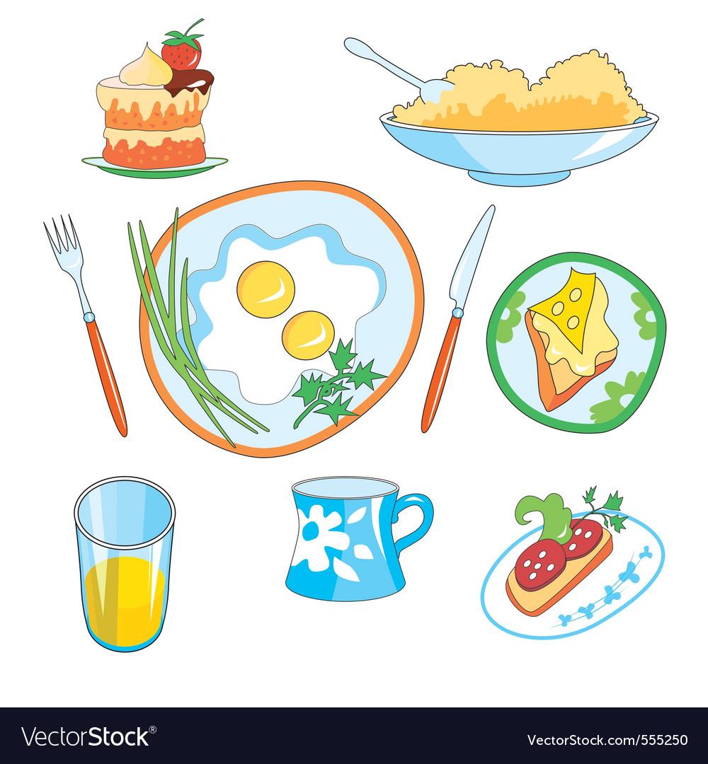 Everyday foods vector | Price: 1 Credit (USD $1)