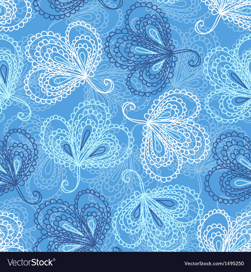 Ornate floral seamless pattern vector | Price: 1 Credit (USD $1)