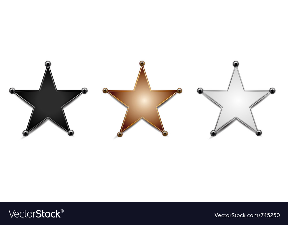 Stars isolated on white vector | Price: 1 Credit (USD $1)