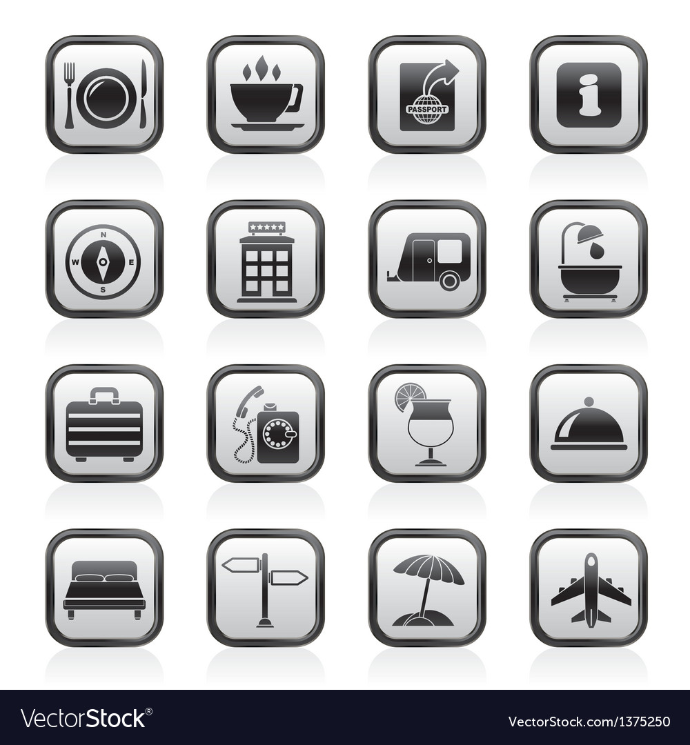 Traveling and vacation icons vector | Price: 1 Credit (USD $1)