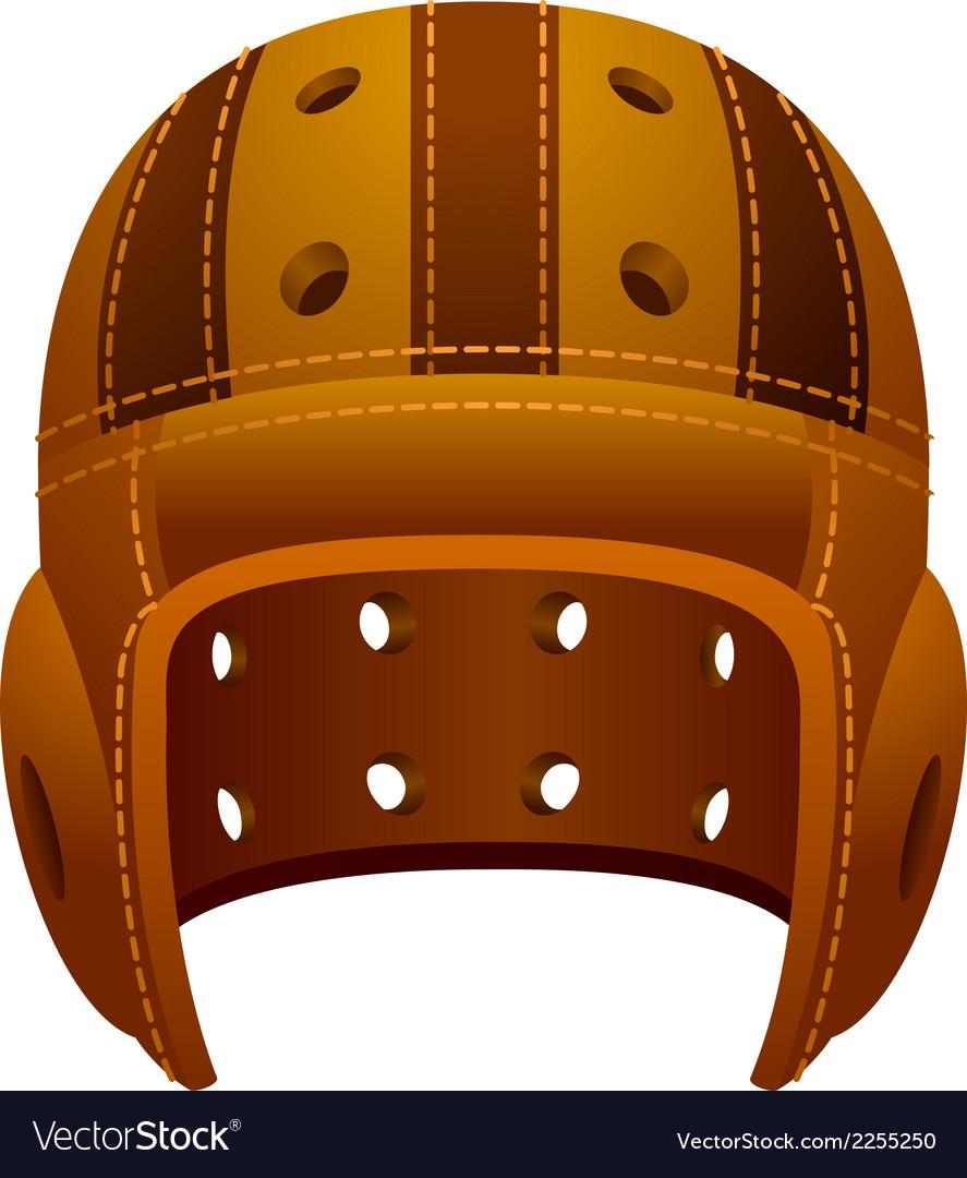 Vintage old leather american football helmet vector | Price: 1 Credit (USD $1)