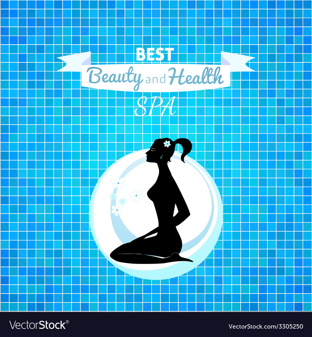 Woman relax silhouette vector | Price: 1 Credit (USD $1)