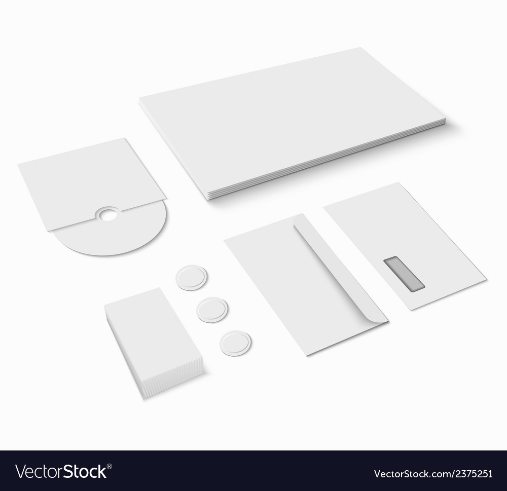 Blank stationery set vector | Price: 1 Credit (USD $1)