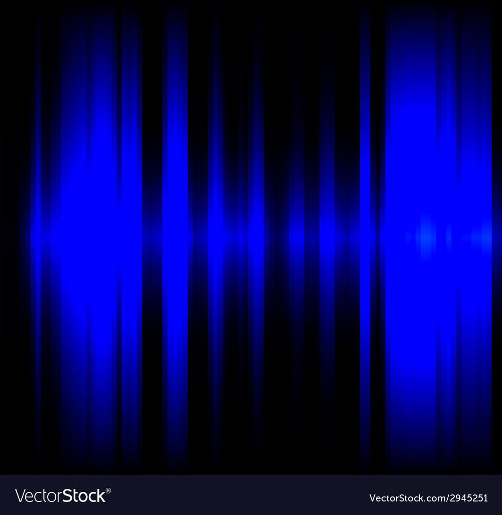 Blue wave light effect black background vector | Price: 1 Credit (USD $1)