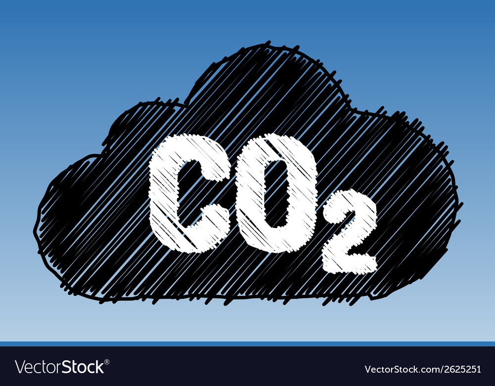 Co2 cloud pen style vector | Price: 1 Credit (USD $1)