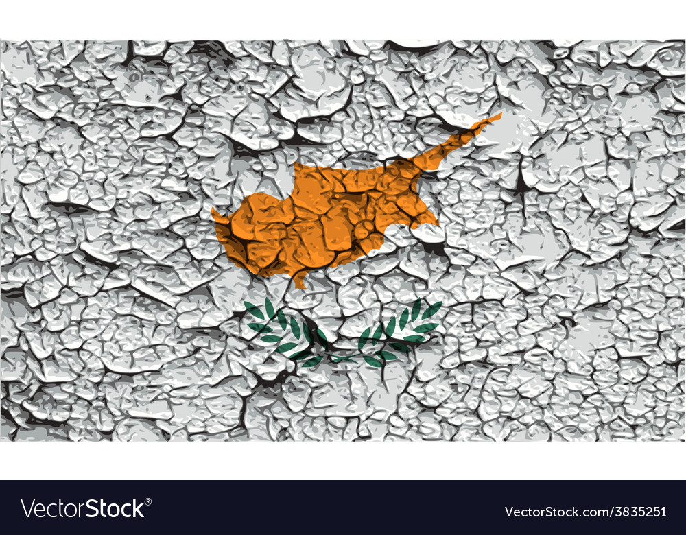 Flag of cyprus with old texture vector | Price: 1 Credit (USD $1)