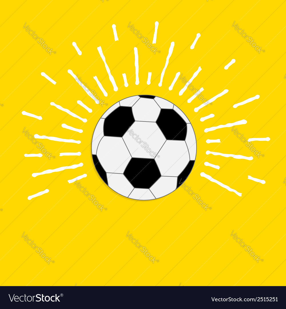 Football soccer ball with sunlight effect flat vector | Price: 1 Credit (USD $1)