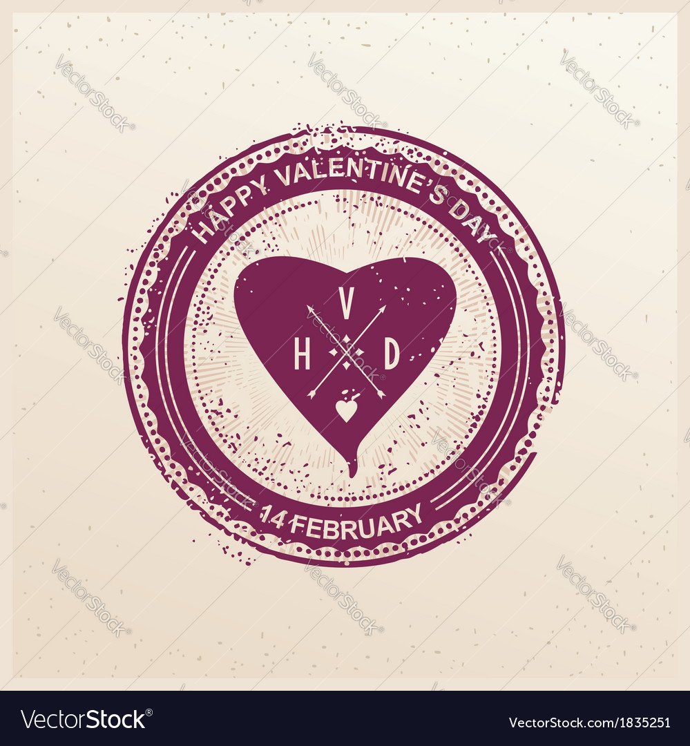 Grunge press for valentines day vector | Price: 1 Credit (USD $1)