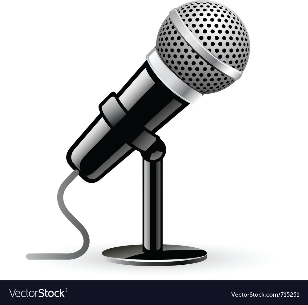 Microphone vector | Price: 3 Credit (USD $3)