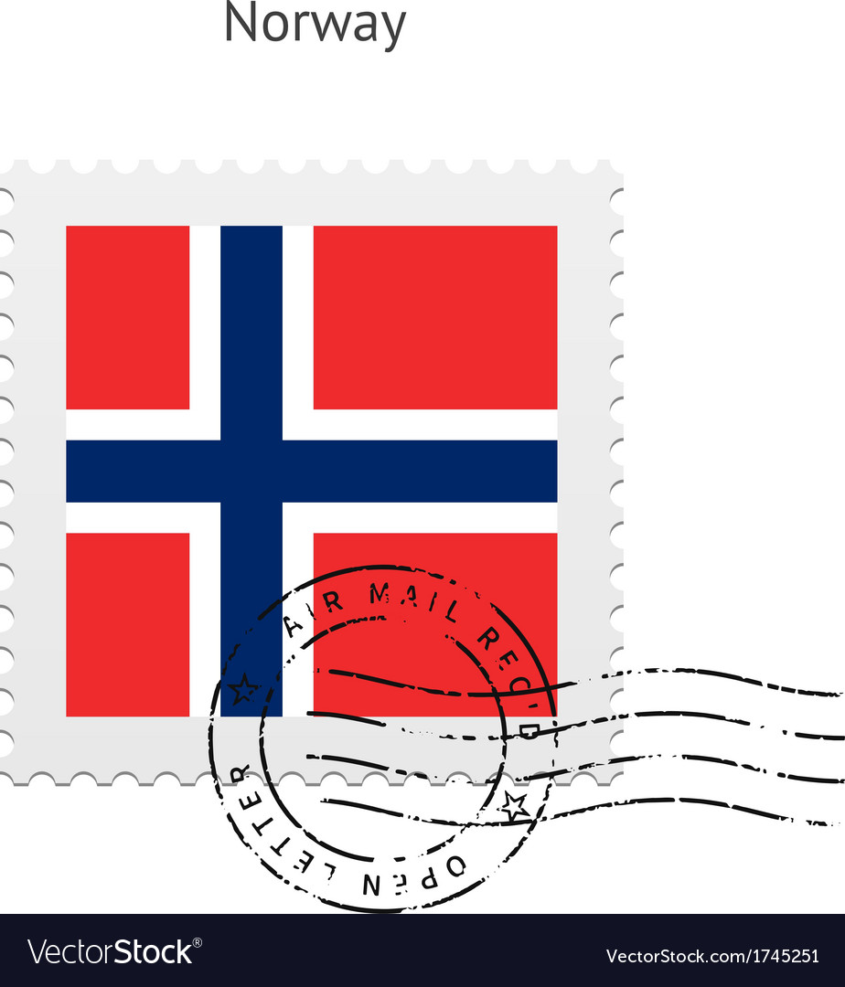Norway flag postage stamp vector | Price: 1 Credit (USD $1)