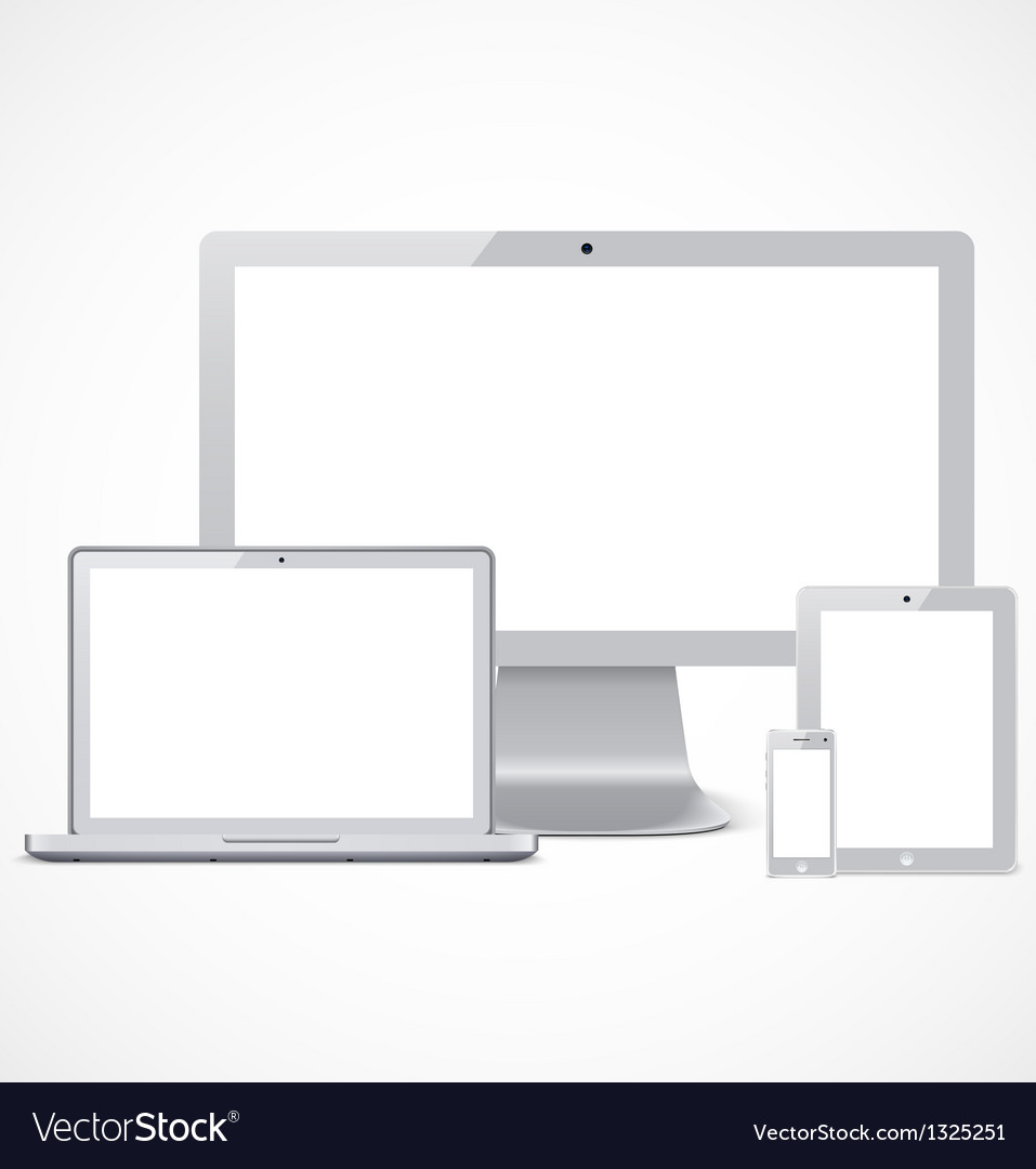Realistic devices set template vector | Price: 1 Credit (USD $1)