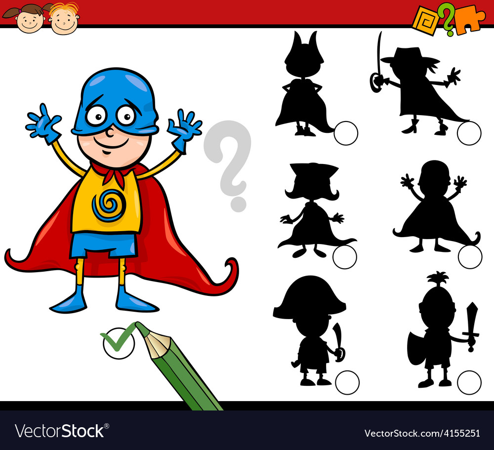 Shadow game cartoon vector