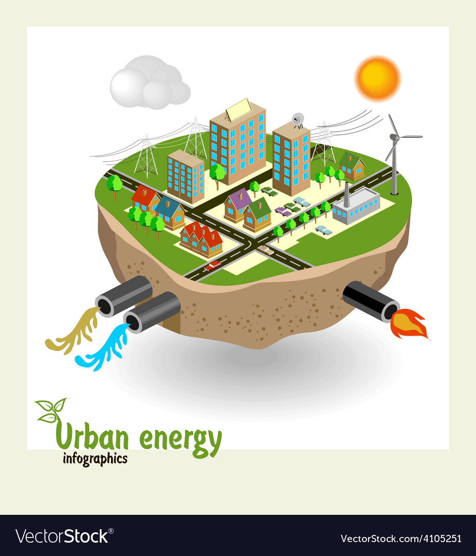 Urban energy engineering communications vector | Price: 3 Credit (USD $3)