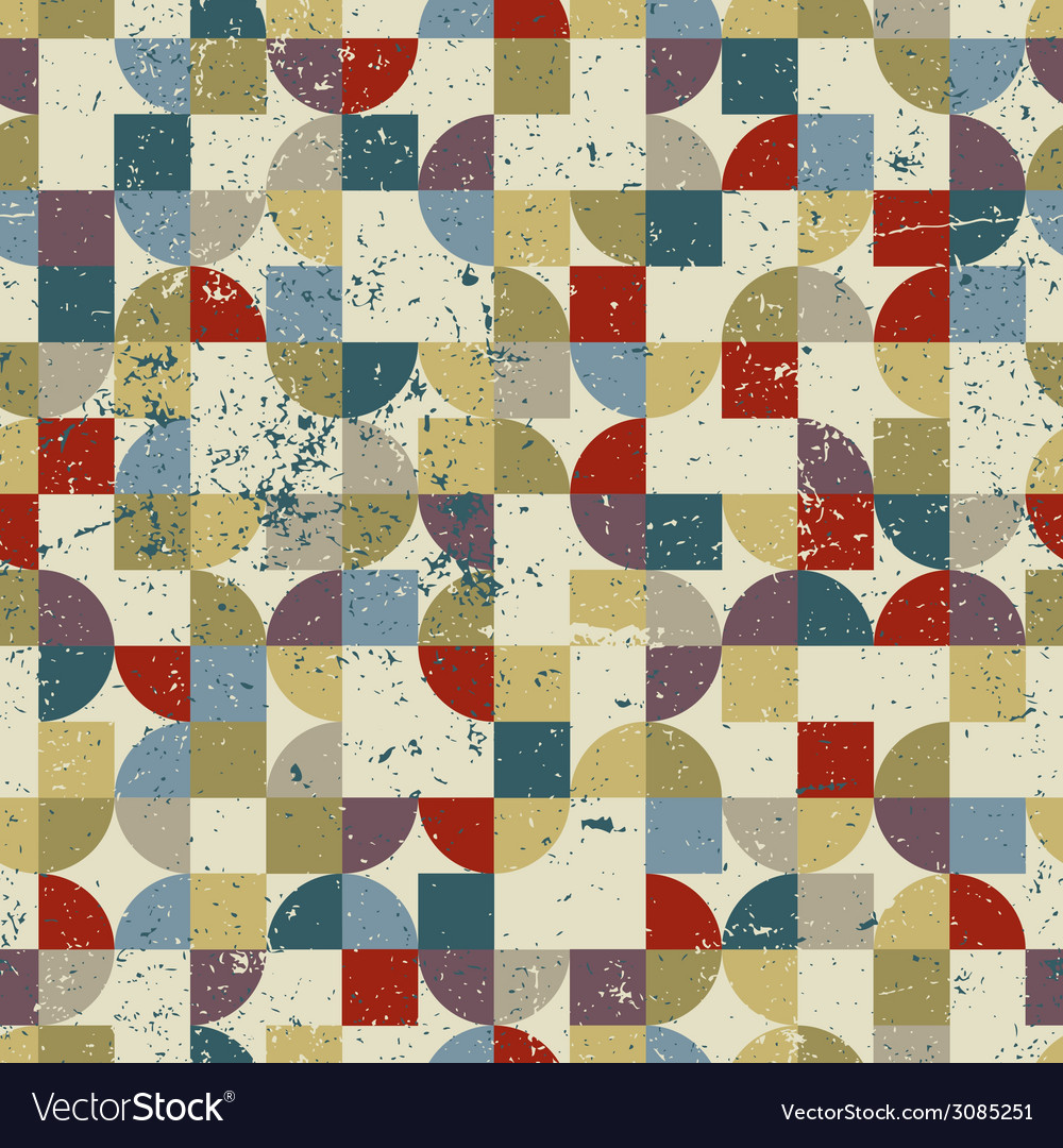 Vintage tiles with grunge texture seamless vector   Price: 1 Credit (USD $1)
