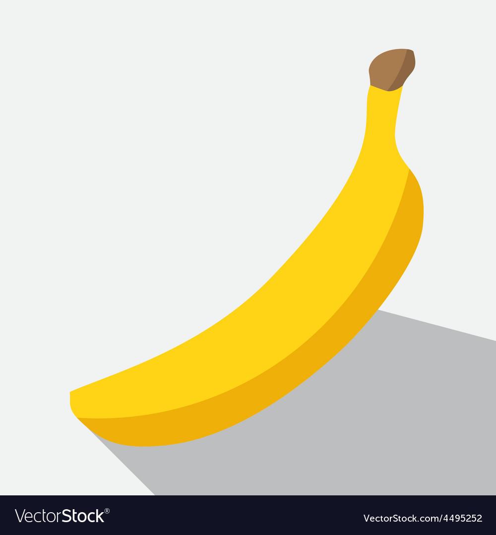 Banana and long shadow vector | Price: 1 Credit (USD $1)