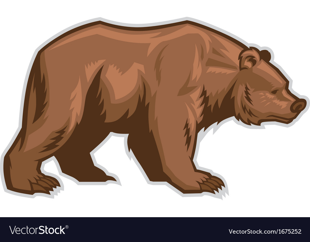 Brown bear mascot vector | Price: 3 Credit (USD $3)