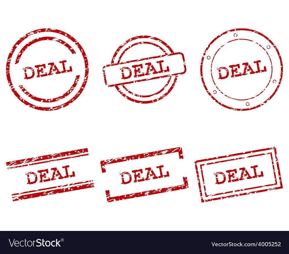 Deal stamps vector | Price: 1 Credit (USD $1)