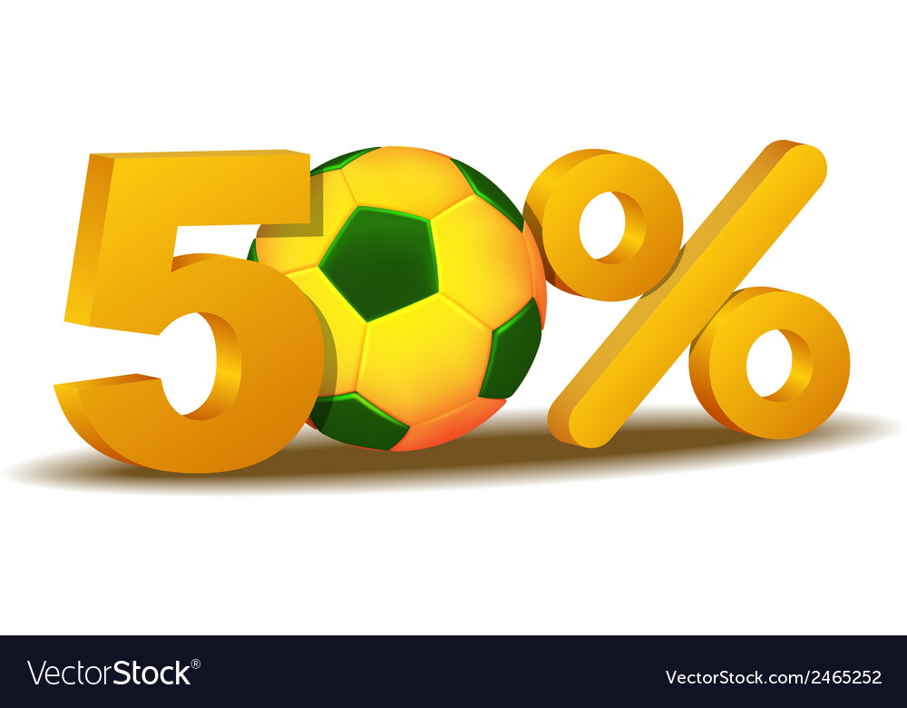 Fifty percent discount icon vector | Price: 1 Credit (USD $1)