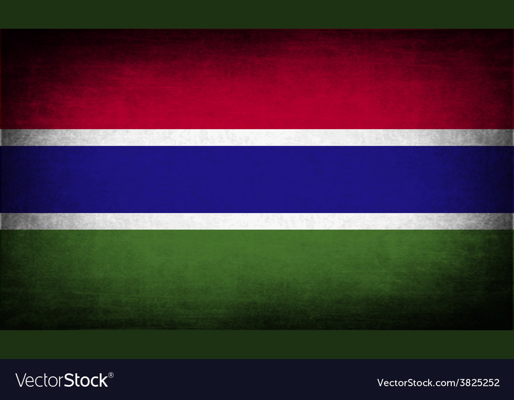 Flag of gambia with old texture vector | Price: 1 Credit (USD $1)