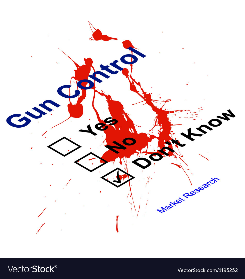 Market research gun control vector | Price: 1 Credit (USD $1)
