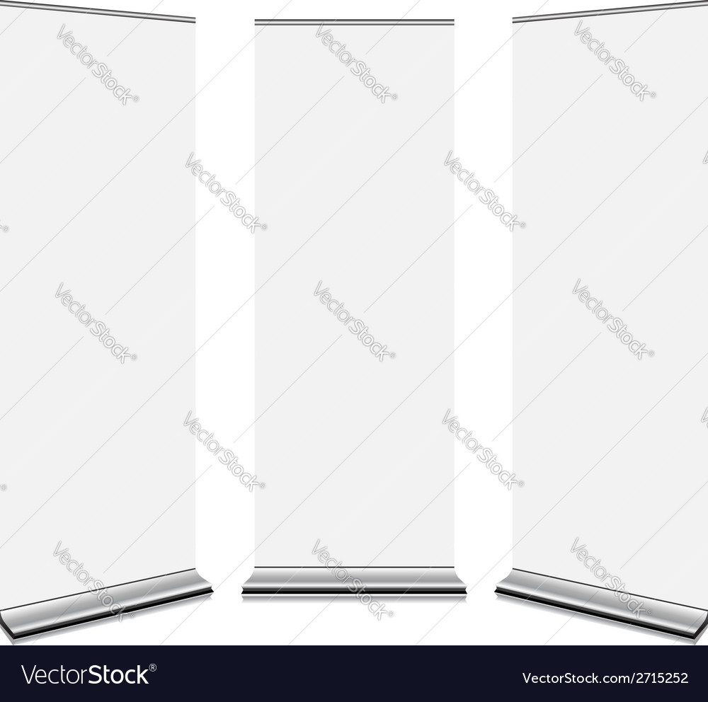 Roll up banners vector | Price: 1 Credit (USD $1)
