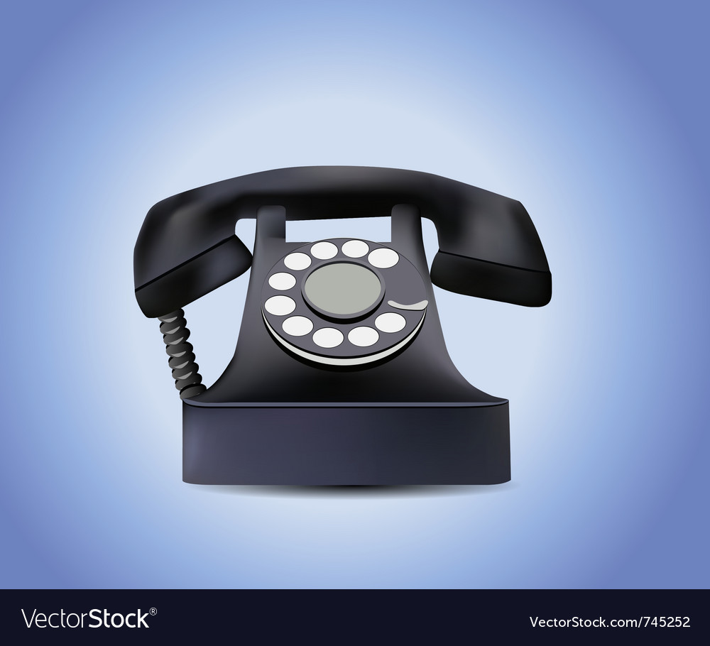 Telephone isolated vector | Price: 3 Credit (USD $3)