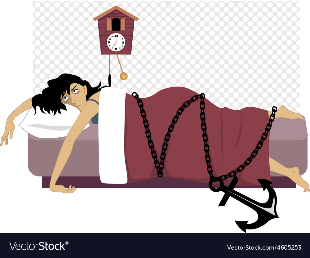 Chained to a bed vector | Price: 3 Credit (USD $3)