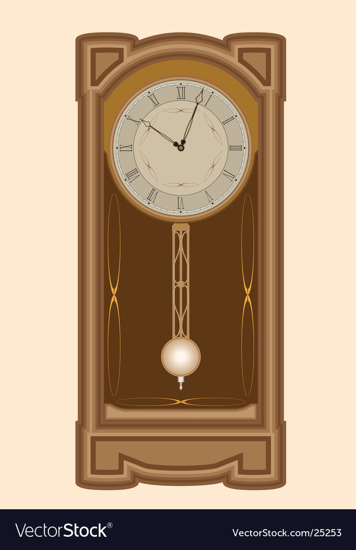 Clock with pendulum vector | Price: 1 Credit (USD $1)