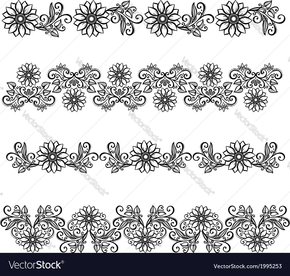 Decorative floral frame lace vector | Price: 1 Credit (USD $1)