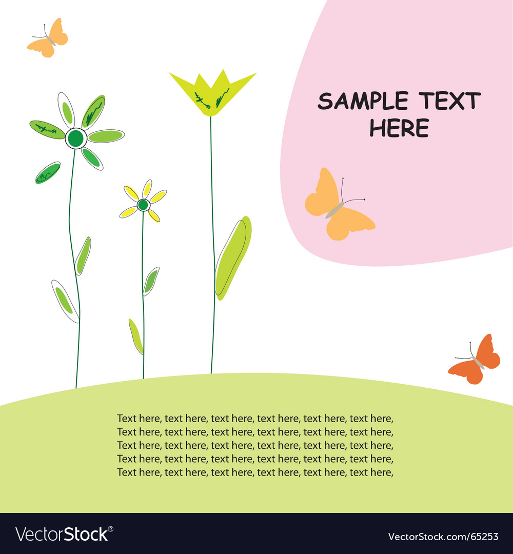 Greeting card spring design vector | Price: 1 Credit (USD $1)