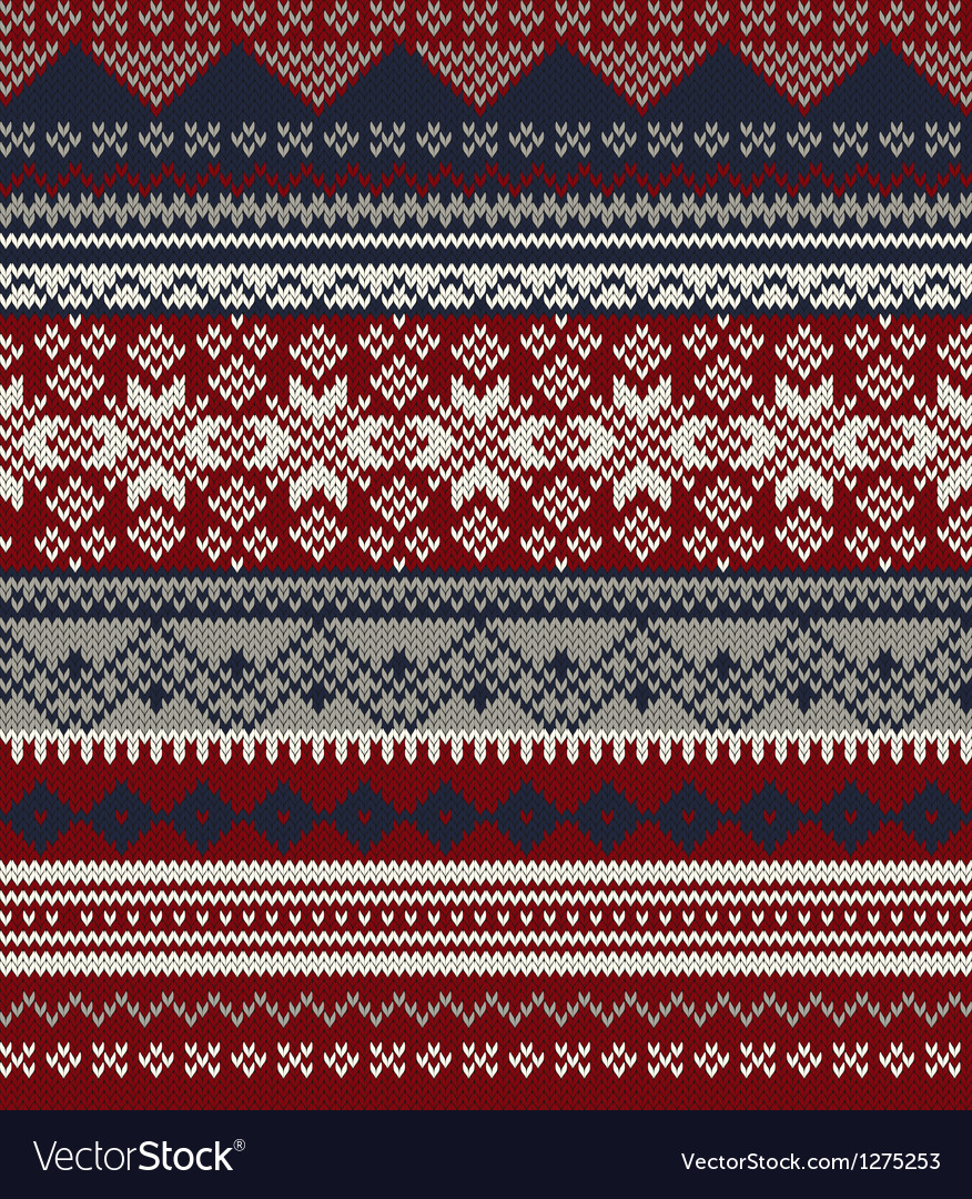 Knitted background in fair isle style in three vector | Price: 1 Credit (USD $1)