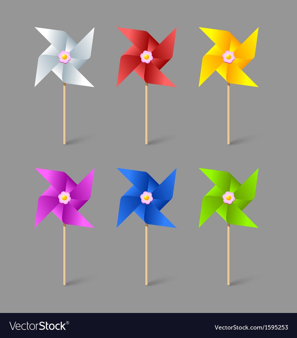 Paper pinwheels vector   Price: 1 Credit (USD $1)