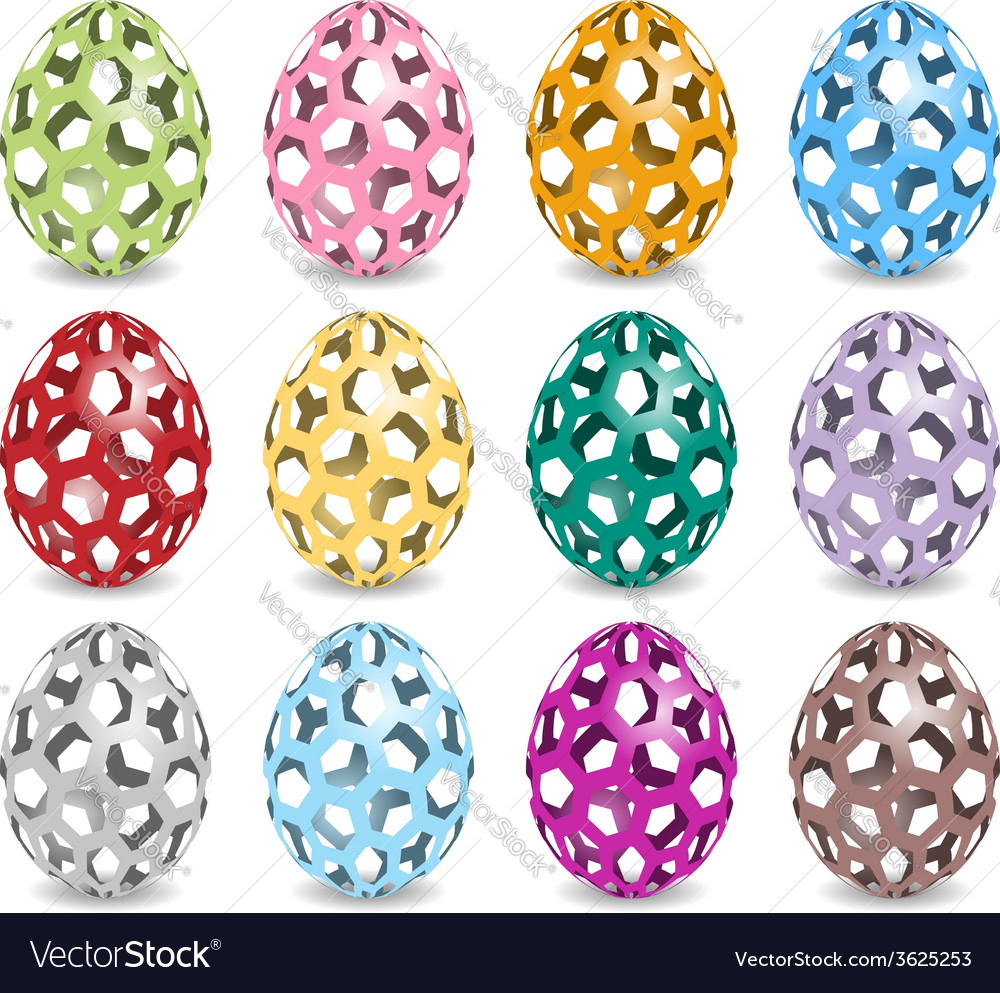 Pastel easter eggs vector | Price: 1 Credit (USD $1)