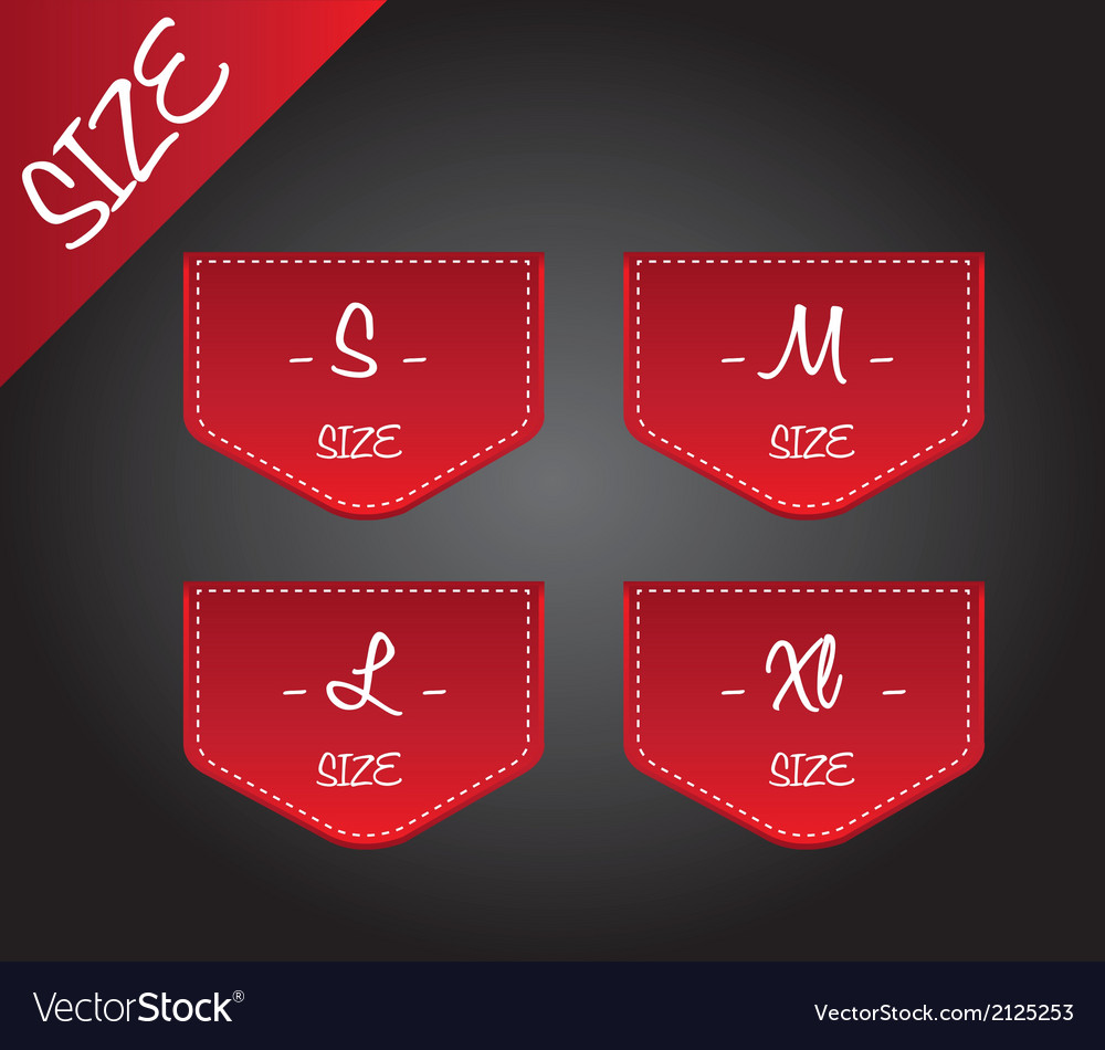 Red size vector | Price: 1 Credit (USD $1)