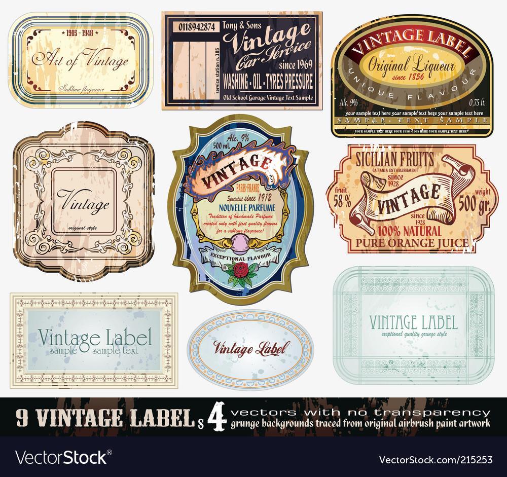 Vintage labels collection set vector | Price: 3 Credit (USD $3)