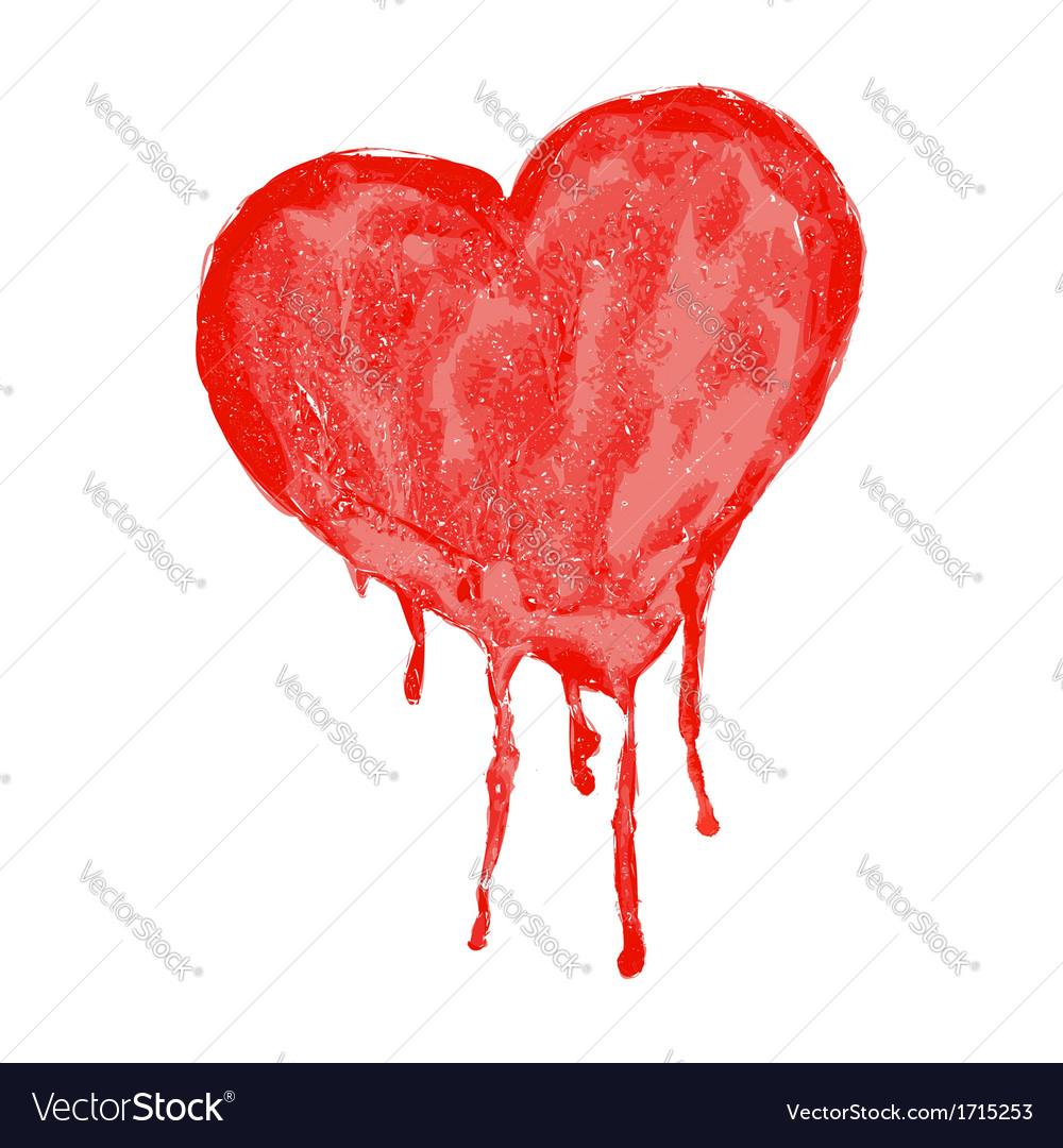 Watercolor heart - vector   Price: 1 Credit (USD $1)