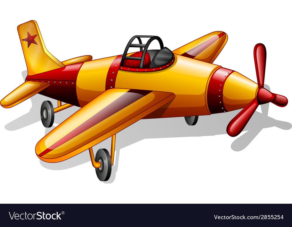 A vintage jetplane vector | Price: 1 Credit (USD $1)