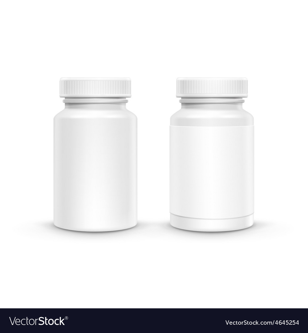 Blank plastic packaging bottle for pills vector | Price: 1 Credit (USD $1)