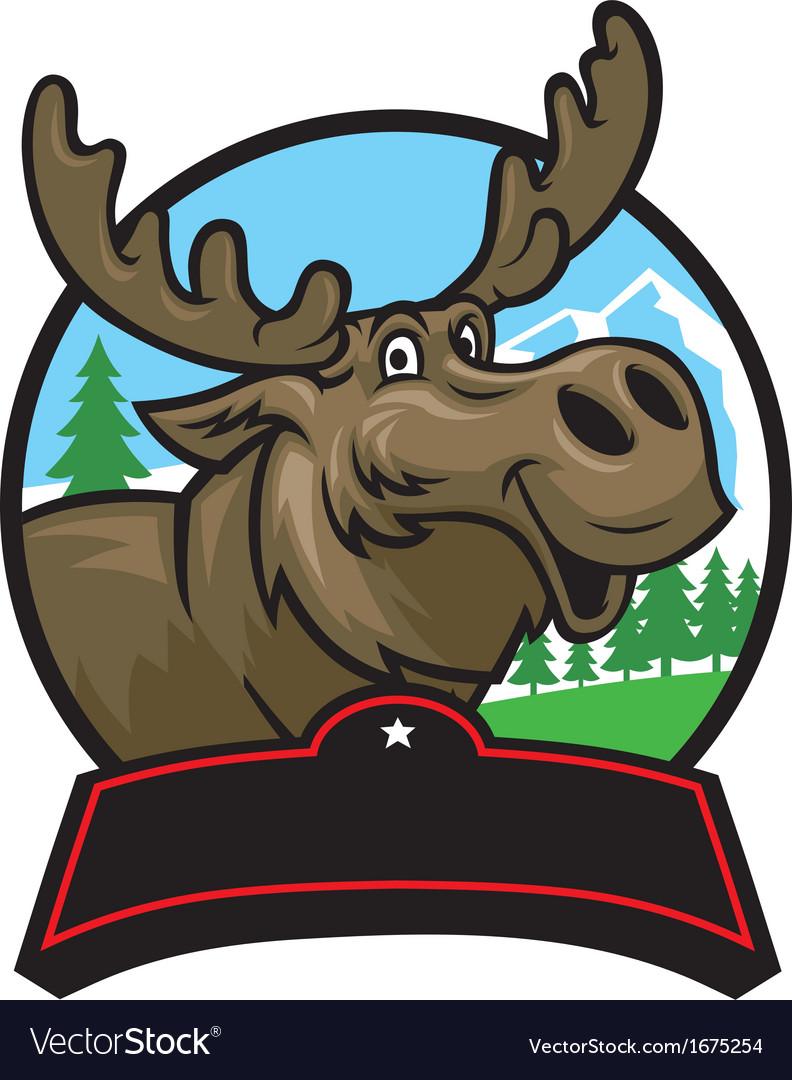 Cartoon moose mascot vector | Price: 3 Credit (USD $3)