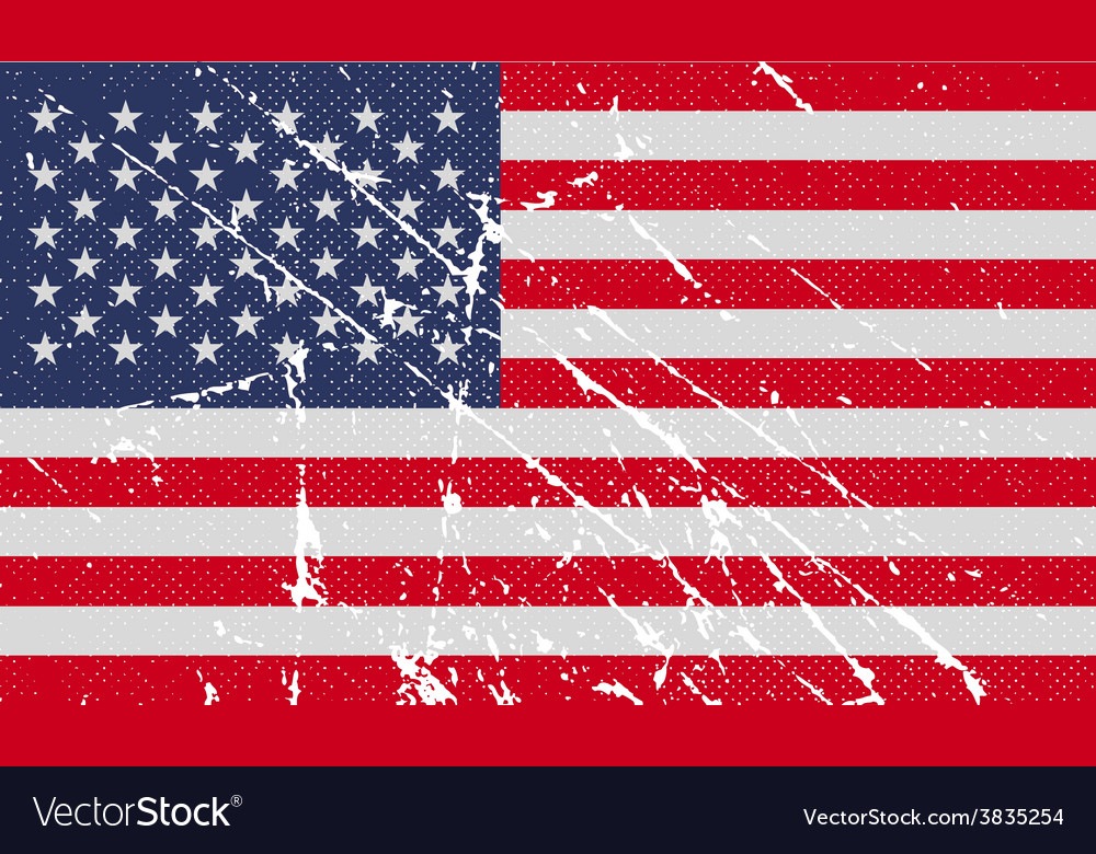 Flag of usa with old texture vector | Price: 1 Credit (USD $1)