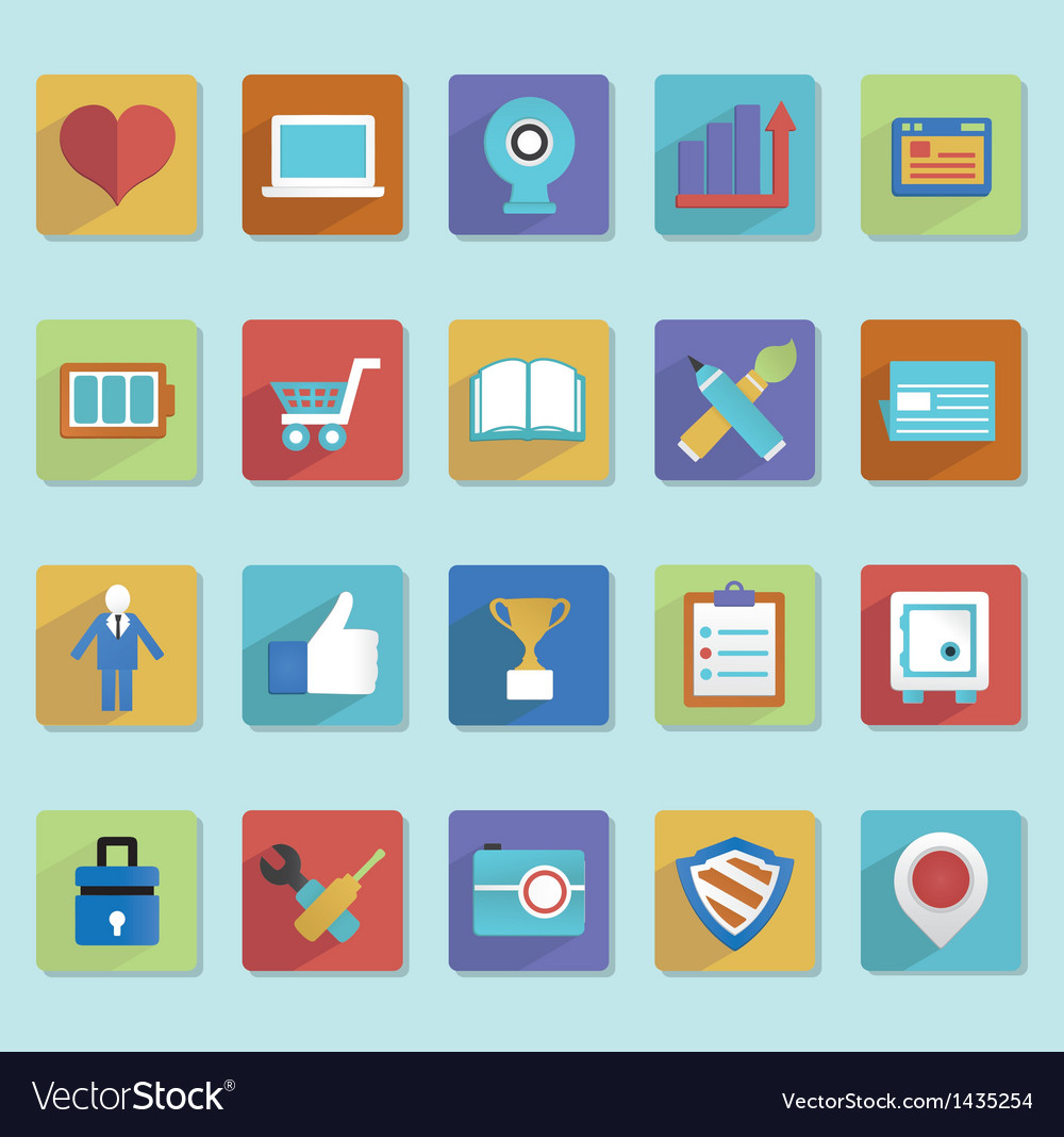 Flat icons for web design - part 2 vector | Price: 3 Credit (USD $3)