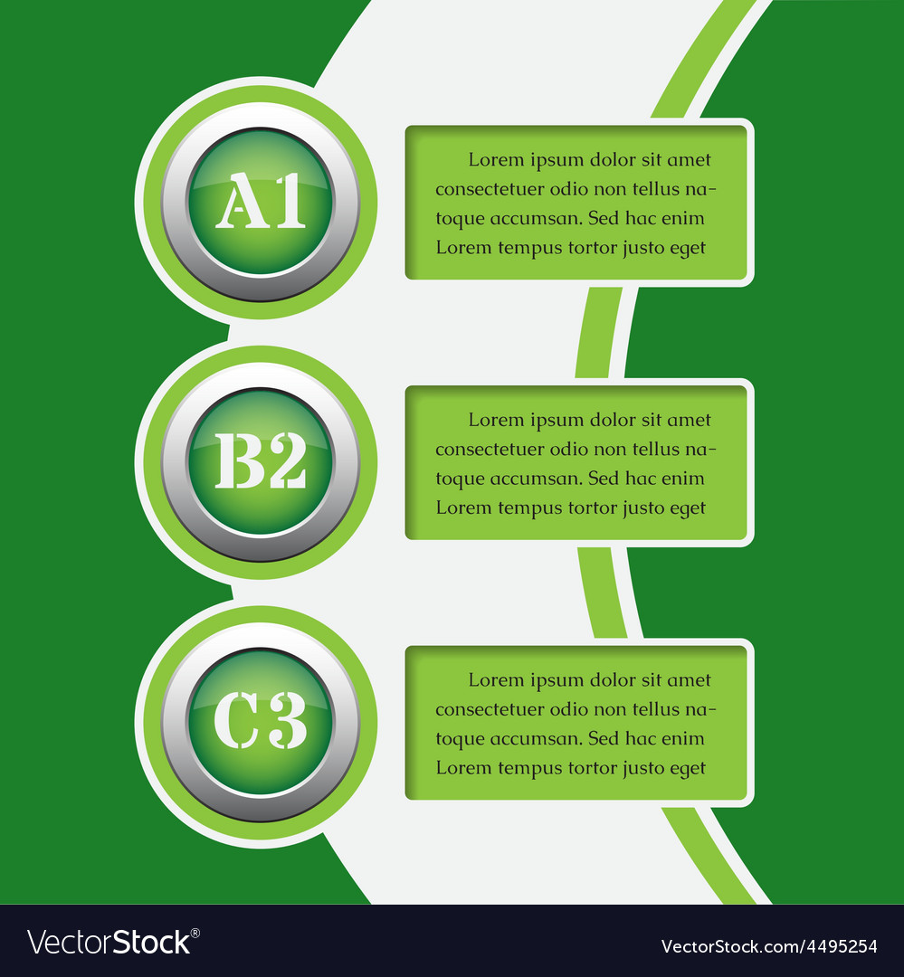 Green infographics banners - design templates vector   Price: 1 Credit (USD $1)