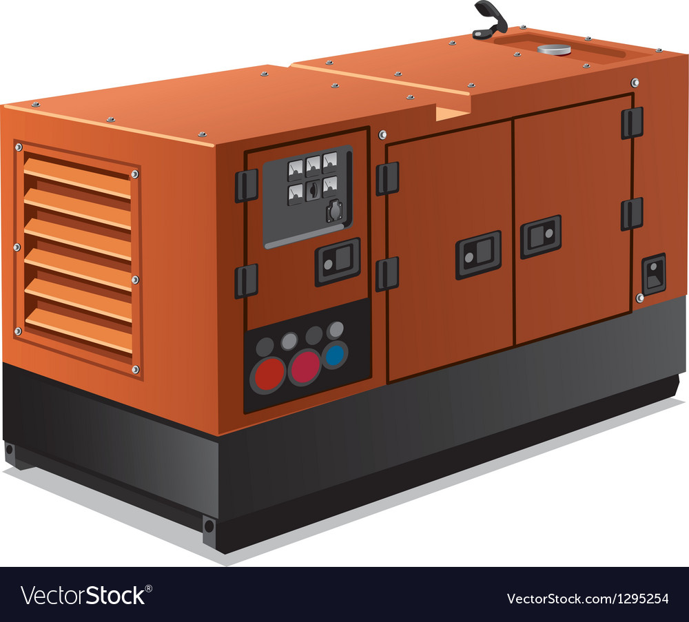 Industrial power generator vector | Price: 3 Credit (USD $3)